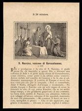 santino litografía 1800 S.NARCISO V. JERUSALÉN