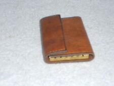 Vintage Hanna Leather Key Trifold Wallet Case, 6 hooks, snap closure