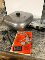 Vtg Sunbeam Controlled Heat Automatic Frying Pan Electric Skillet FP-L W/ Manual