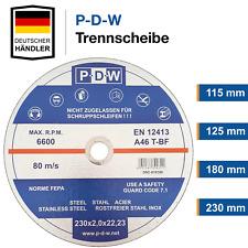 Trennscheiben Ø 115 125 180 230 Flexscheiben Inox | Edelstahl Metall Stahl Blech