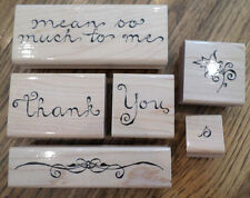 Jrl Design Thank You Mean So Much To Me Set Words Wooden Rubber Stamp