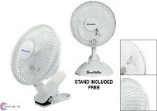 Clip on air fan circulator-cooler hydroponic grow room tent office desk fan 6""