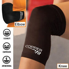 Black Sports Fitness Fit Knee Compression Sleeve Copper Brace Joint Pain Relief