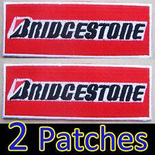 2 x Large Patches BRIDGESTONE Iron on Advertising RED Formula racing Rally Sport