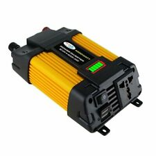 New listing 4000W Peak Car Power Inverter Dc 12V To Ac 110V 2 Ac Outlets Solar Converter Us