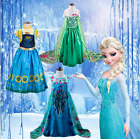 Frozen Girls Disney Princess dress up Cinderella Elsa/Anna Costume Dresses Party