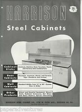 1946 HARRISON Steel KITCHEN Cabinets Sinks Base Wall CHICAGO ILL Vtg Catalog