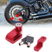 Red Aluminum Alloy Round Head Anti-theft Motorcycle Disc Brake Lock w 2 Keys