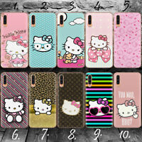 HELLO KITTY A SILLY CAT GEL Plastic Samsung A20 A30 A50 A70 Phone case cover