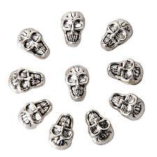 10pcs Retro Skull Spacer beads-Argent Antique FP