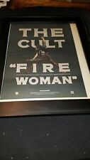The Cult Fire Woman Rare Original Radio Promo Poster Ad Framed!