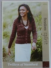 Twilley's  Ladies Cardigan  Knitting Pattern In Freedom Spirit  Leaflet 9079