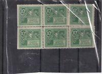 block of 6 US STAMP SCOTT # E7 Special Delivery 10c - 1908 - Mint OG