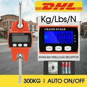 Kranwaage Bis 300 Kg LCD Digital Hängewaage Zugwaage Wildwaage Industriewaage DE
