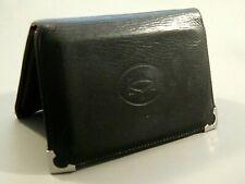Vintage CARTIER Men's MUST DE CARTIER Bi-Fold Card Holder Wallet Black Calfskin