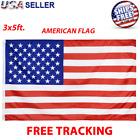 3 x 5 FT USA AMERICAN Flag US U.S. Polyester Stars Brass Grommet United States