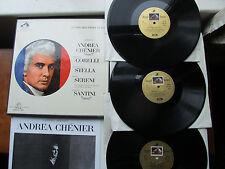 "Giordano Andre Chenier 3*12"" Lp's Box Set HMV Angel Series SAN 128/30 UK  1964"