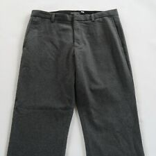 Banana Republic Mens Wool Blend Emerson Dark Gray Dress Pants Size 36x30