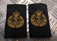 Genuine British Royal Navy RN Chief Petty Officer Rank Slides Epaulettes EPB43G