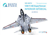 Quinta QD48074 1/48 F-14D 3D-Printed & coloured interior (for AMK kit)