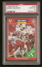 Barry Sanders Lion HOF 1989 Pro Set Rookie Card  PSA 10 Gem Mint