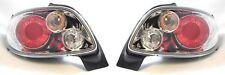 Peugeot 206 Cc Cabrio 00-6/03 Chrome For Lexus Back Rear Tail Lights Lamp