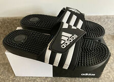Adidas Adissage Men's Slides - Size 10 - Black/White Brand New