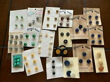 New listing Vintage Button Lot On Cards Lucky Day, Exquisit + Unbranded Some Germany