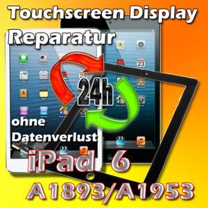 24. St iPad 6 A1893 A1954 Display Touch Glas Scheibe Digitizer Reparatur Schwarz