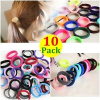 Fashion 10pcs Sports Elastic Rope Ring Hairband Women Hair Band Ponytail Holder