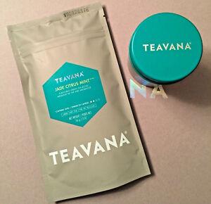 🍊 NEW TEAVANA 2OZ FACTORY SEALED JADE CITRUS MINT 🍊🍃 LOOSE LEAF TEA & TIN 💚☕