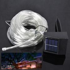 Solarbetrieben 12M 100 LED Lichtschlauch Tube Rohr Licht Schlauch Lichterkette