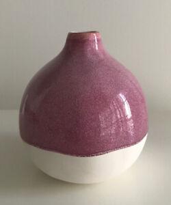 "Opalhouse 4.8"" x 4.5"" Decorative Stoneware Floral Vase Pink White"