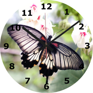 WALL CLOCK BUTTERFLY 25cm Animal Nature Home Furniture Home Decor Decoration 351