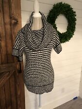 Mac & Jac Women's Black & White Short Sleeve Sweater Size S NWT's (V1)