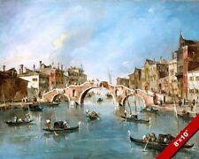 CANNARAGIO CANAL VENICE ITALY BRIDGE PAINTING ART REAL CANVAS GICLEEPRINT
