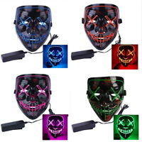 2020 Halloween Scary Mask Cosplay Led Costume Mask Wire Light Up The Purge Movie