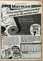 Mayman Fitted Carpeting Means Practical Savings Vintage Advertisement 1965
