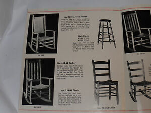VINTAGE 1959 P&P CHAIR CO CATALOG/BROCHURE! MAKERS OF JFK/KENNEDY ROCKING CHAIR!