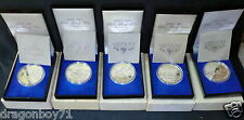 1990 Singapore 25th yr Independence $10 Silver Proof Coin (5pcs)