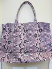BCBG Max Azria Pink and Black Snake Skin Print Handbag -  Brand New