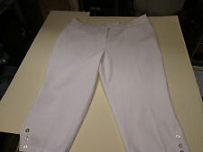 SAG HARBOR CROP LENGTH STRETCH CAPRIS WOMEN'S SIZE 22W-WHITE- NWT
