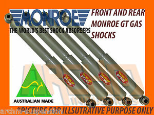 HOLDEN RODEO 4WD TFR / R7 / R9 88-03 FRONT & REAR MONROE GT GAS SHOCK ABSORBERS