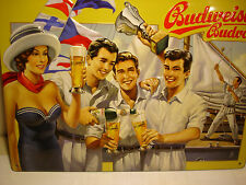 ">> BUDWEISER  No.3  BUDVAR SCENE: "" SAILING "" BEER BREWERY METAL SIGN"