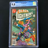 Black Lightning #10 (DC 1978) 💥 CGC 9.8 WHITE Pages 💥 Trickster App! Comic
