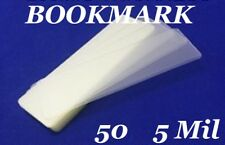 50 Bookmark Large 5 Mil Laminating Pouches Laminator Sleeves 2-3/8 x 8-1/2