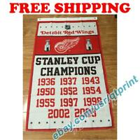 Detroit Red Wings Stanley Cup Champions Flag Banner 3x5 ft 2021 NHL Hockey NEW
