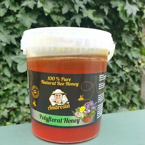 RAW ORGANIC  HONEY 1 kg .(honey is the same in the photos)