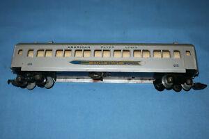 American Flyer #655 Silver Bullet Coach Passenger Car. Satin silver