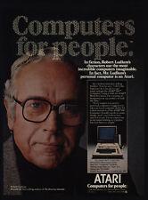 1981 ATARI 800 Personal Computer - ROBERT LUDLOW - Bourne Identity - VINTAGE AD